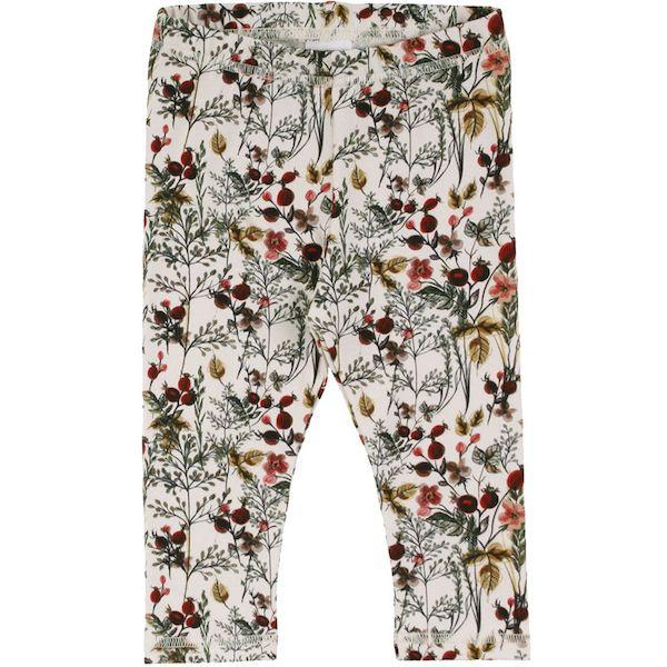Müsli Leggings `Winter flower Buttercream` (bio)