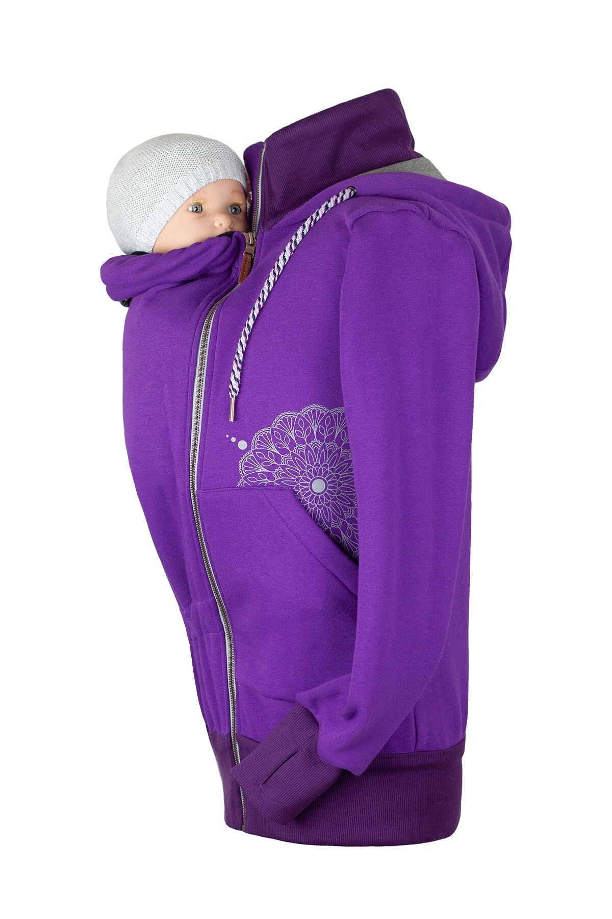 Angelwings TrageHoodie dark purple - 0