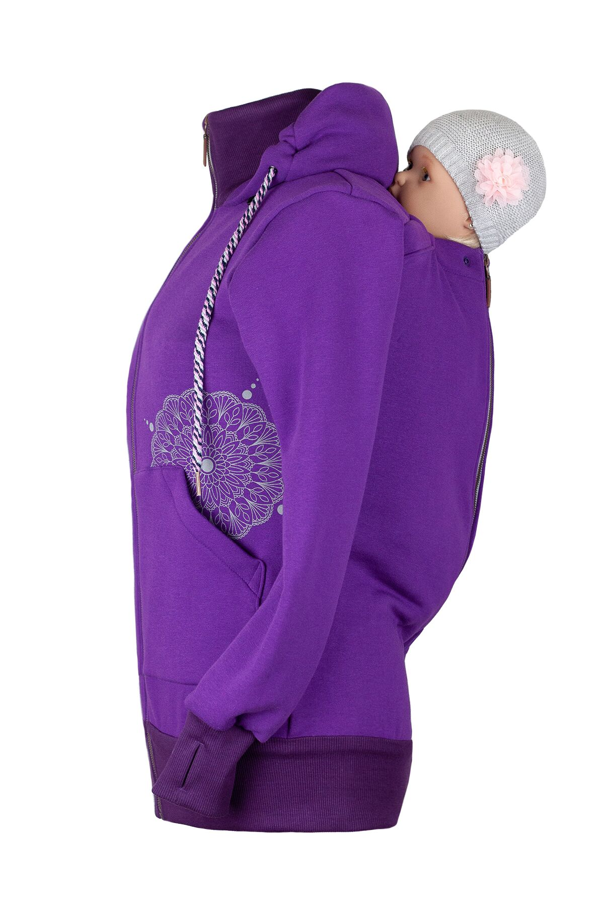 Angelwings TrageHoodie dark purple - 1