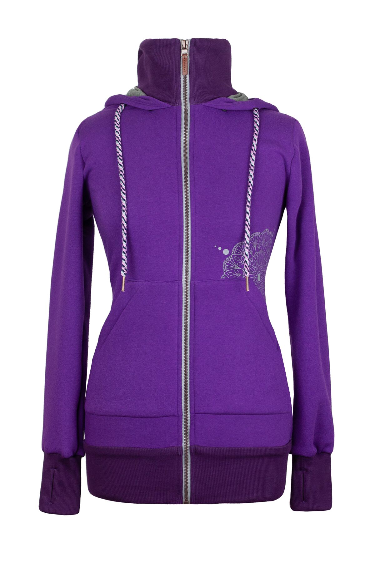 Angelwings TrageHoodie dark purple