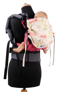 BabyRoo Huckepack FB medium `Pink Flamingo`