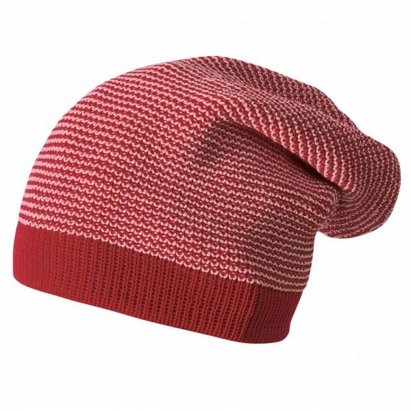 Disana Long Beanie, bordeaux-rosé