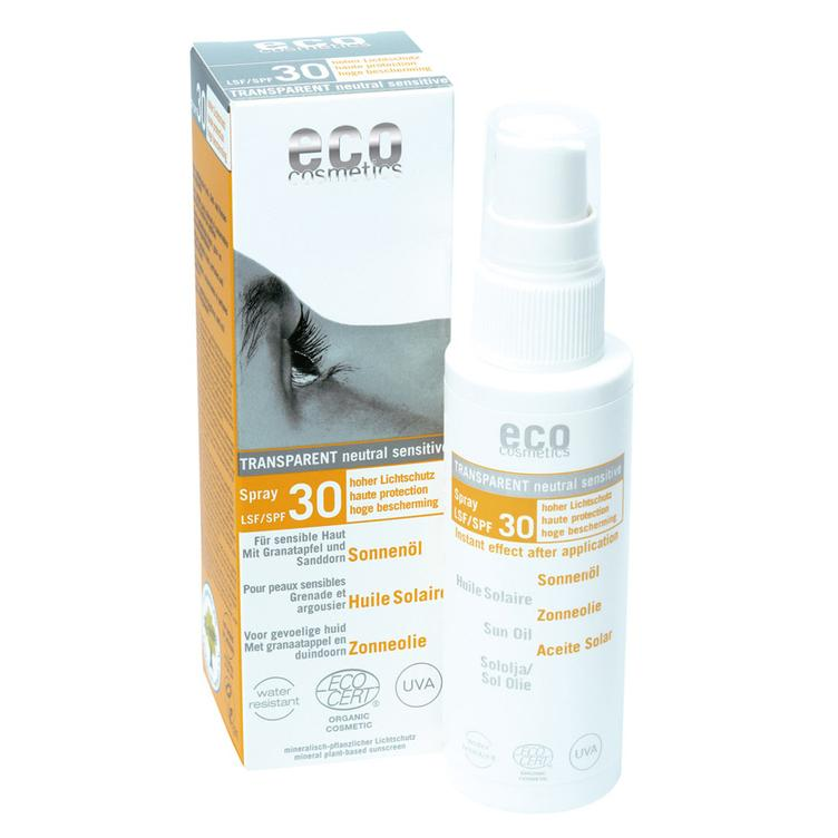 ECO Cosmetics Sonnenöl-Spray transparent LSF 30