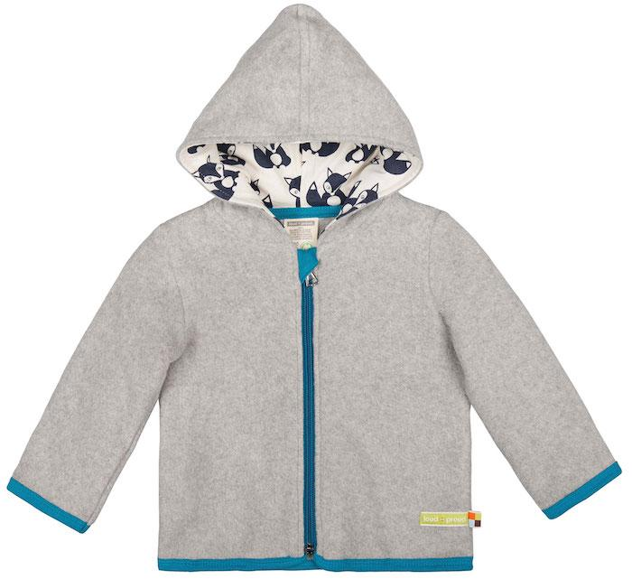 Loud+Proud Jacke Fleece Fuchs grau