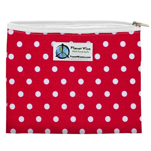 Planet Wise Snack Bag, Red Dots