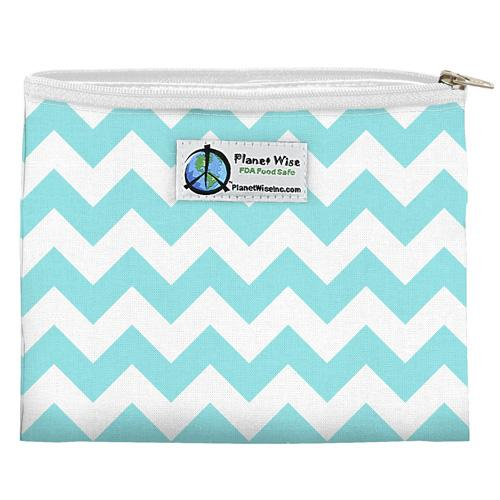 Planet Wise Snack Bag, Teal Chevron