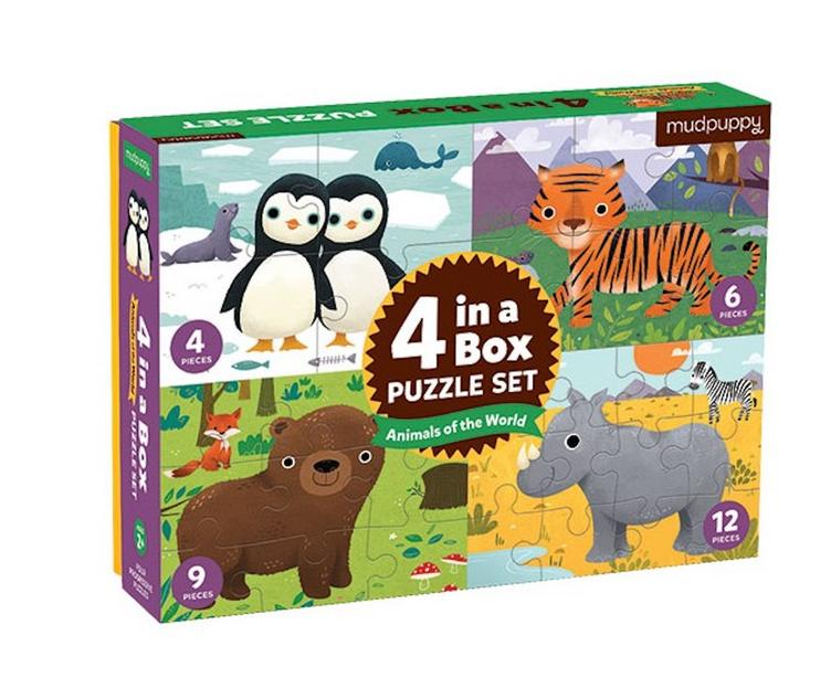 Puzzle Set - 4 in a box `Tiere`